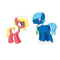 Deviant ID-Brother and Sister (Xavier and Arlene) by MLP-Element