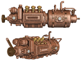 Steampunk Engine by Roys-Art