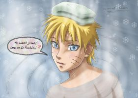 Naruto kun waiting for Rachiru by KaenDD