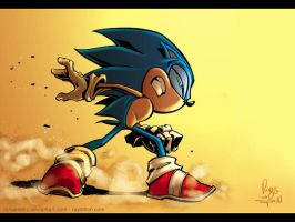 Sonic T. Hedgehog inks+colors by RayDillon