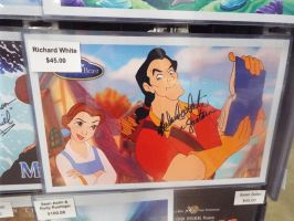 Gaston Signed Beauty and the Beast Print by KrazyKari