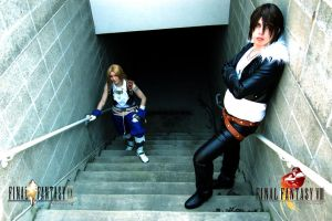 Squall and Zidane, Chillin II by Lionheart185