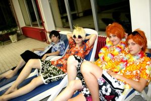 Ouran Pool Version Cosplay by kurui-chan