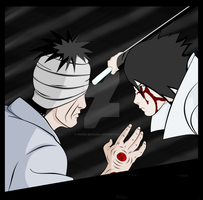 Danzou vs Sasuke by Hand-Banana