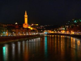 Verona at Night by expressive87
