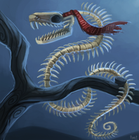 DAY 152. Skeleton Snake (25 Minutes) by Cryptid-Creations