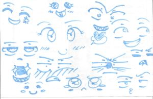 Expression Doodles by Rikki-the-Great