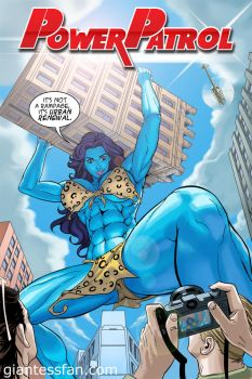 Power Patrol - Jolly Blue Giantess by giantess-fan-comics