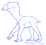 Gorwydd - speculative flightless pterosaur by raven-amos