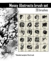 Messy Abstracts Brush Set by noelevz