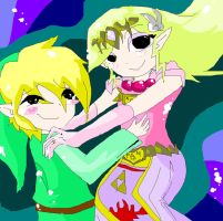 Link and Zelda Old by TheAmaZingShadowLink