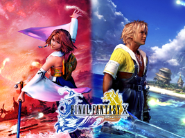 Yuna x Tidus- Wallpaper by Lightning-Farron