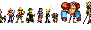 one piece sprites by maestroNinja