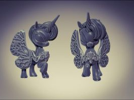 Butterfly Winged pony for Impact Miniatures by zelldweller