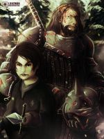 Arya and The Hound by Z3ros