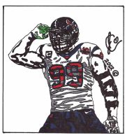 JJ Watt Ink Illustration (Salute Edition) by JColley79