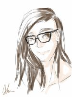 DOODLE: Skrillex by KageNao