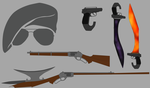 [RWBY OC] Lucius' Arsenal by IndecisiveFigure