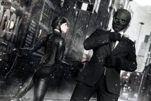 Catwoman and Black Mask - Arkham Serie - DC Comics by WhiteLemon