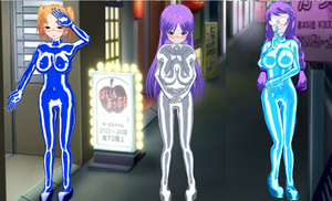 Yuuwaku Ren'ai Girls Bodysuits by quamp