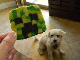 MineCraft Creeper Sugar Cookies-Link Tutorial by ThePetiteShop