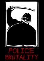 Police Brutality Vector File by bozoartist