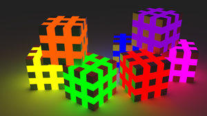 Glowing Cubes by Cubicay