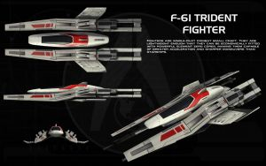 F-61 Trident fighter ortho by unusualsuspex