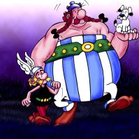 Fatboy Slim art jam Asterix by SockWeasle