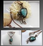 Blaithin- wire wrapped copper necklace by mea00