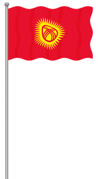 Flag of Kyrgyzstan by llmatako