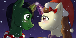 [Commission] Ed and Mitra Holiday Icons by SkyBlueArts