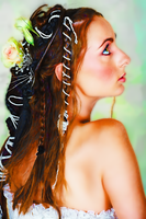 young bride with braided hair by chemoelectric