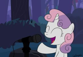 Singing Sweetie Belle by cipherpie