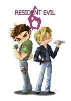 Resident evil 6 Chibi by Maggy-P