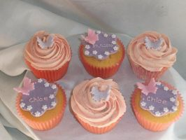 Chloe christening cupcakes by starry-design-studio
