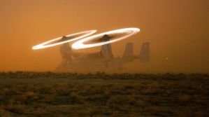 MV-22 Osprey In The Dust by GeneralTate