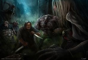 Gabe Newell, left 4 dead by Darren Geers by DarrenGeers