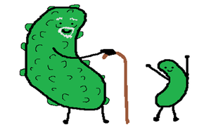 the pickle and gherkin by 0ketchup-freak0