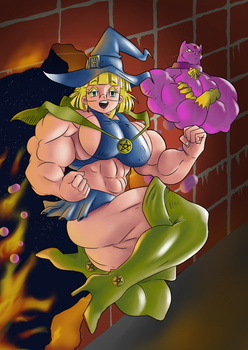 Witch girl by Blackkheart/Reddyheart - Colored by cactusjoe999