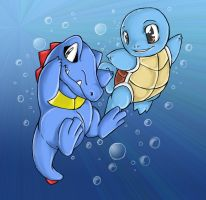 +Totodile and Squirtle+ by Sprinkling-stars