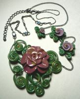 Victorian Rose Necklace by BlackMagdalena