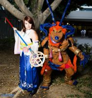 Final Fantasy X Yuna and Ifrit by SoraSkater