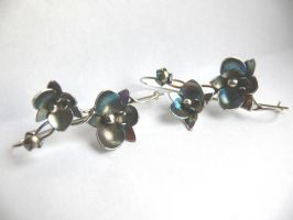 patinated orchid branches earrings by irineja