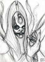 Sketch Card Mother Talzin by AokiBengal