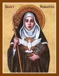 St. Scholastica icon by Theophilia