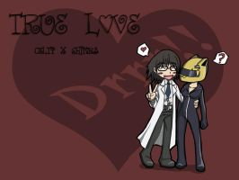 Shinra and Celty Wallpaper by HugueOfTheRiver