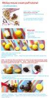 Polymer Clay : Mickey Mouse Cream puff tutorial by CraftCandies