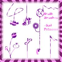 Stalk Brushes for Photoshop by KaiPrincess