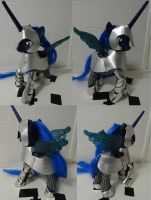 Princess luna robot toy with a half plate. by Gruntoks